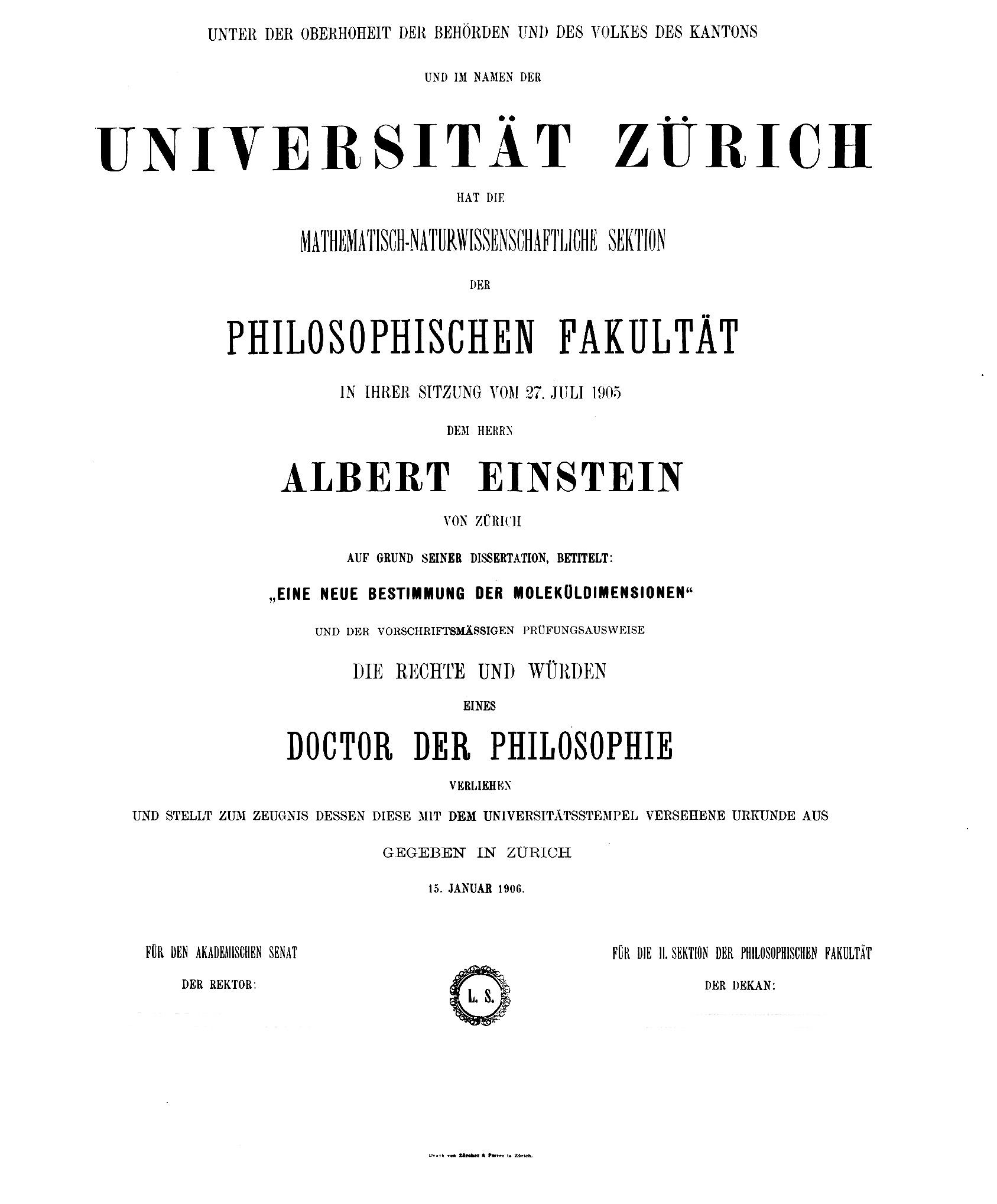 uzh dissertation mnf
