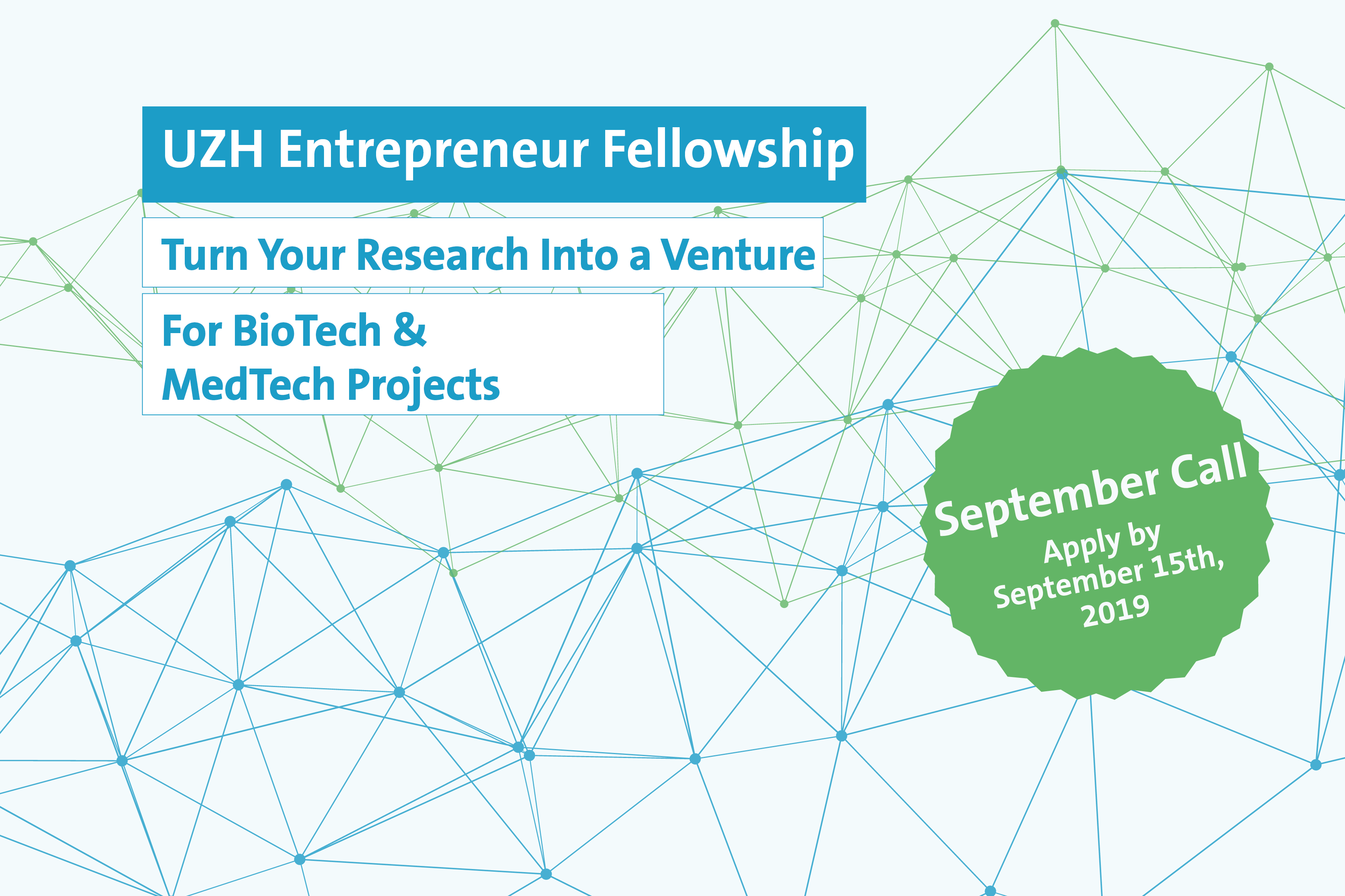 UZH Entrepreneur Fellowships in BioTech & MedTech